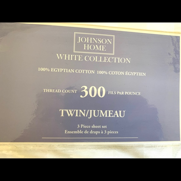 New WT Johnson Home Egyptian Cotton Twin Sheet Set
